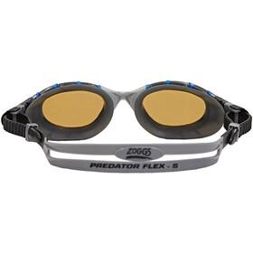 Zoggs Predator Flex Polarized Ultra Reactor Lunettes de protection S, blue/metallic silver/copper
